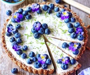 blueberries, orchid, and pie image
