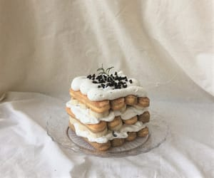 food, beige, and cake image