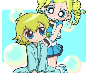 anime, powerpuff girls z, and bubbles image