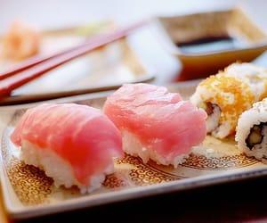 sushi, food, and japan image
