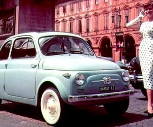 car fiat street retro image