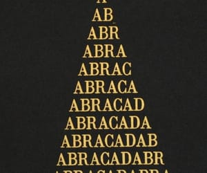 abracadabra, magic, and text image