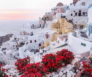 nature, santorini, and love image