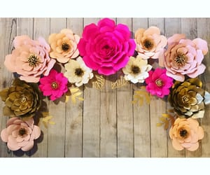 inspiration, party decor, and paper roses image