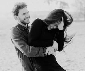 black and white, lovers, and Relationship image