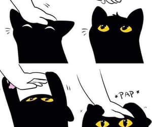 cat, black, and kawaii image