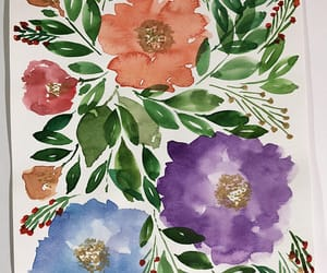 floral, abstract watercolor, and flowers image