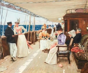 art, sailing, and belle epoque image