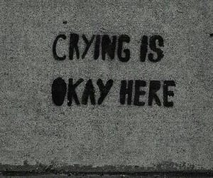 sad, crying, and grunge image