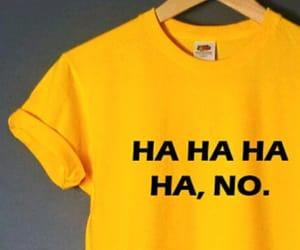 t-shirt and yellow image