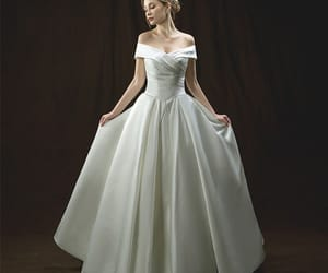 bridal, bridal gown, and ivory wedding dress image