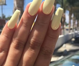 nails, yellow, and summer image