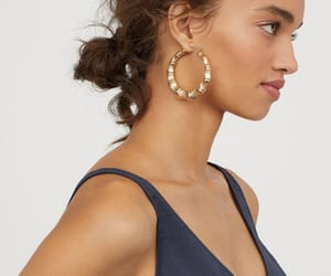 camisole, hoop earrings, and satin image