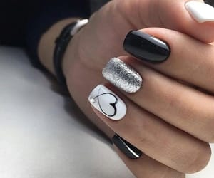 nails, beauty, and black image