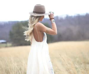 dress, hat, and style image