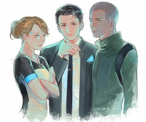 android, Connor, and game image