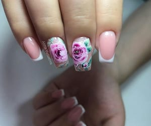 art, flowers, and nails image