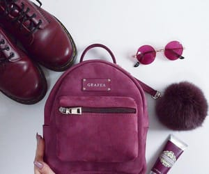 accessories, bordeux, and backpack image