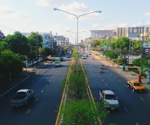 city, road, and thailand image