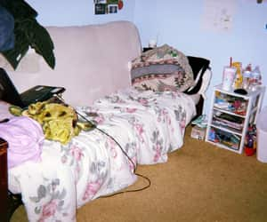 bed, bedroom, and futon image