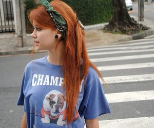 alternative, red hair, and girl image