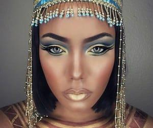 makeup, cleopatra, and Halloween image