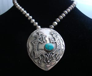 native american, turquoise necklace, and etsy on sale image
