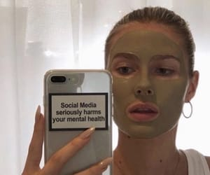 face mask, mental health, and skincare image