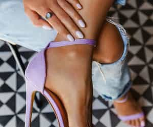 fashion, heels, and nails image