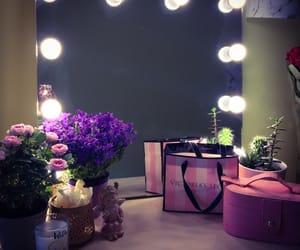 beautiful, candle, and makeup image