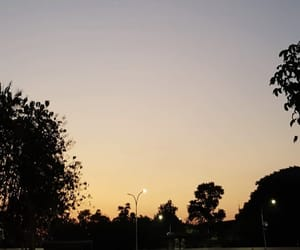 sky, sunset, and noon image