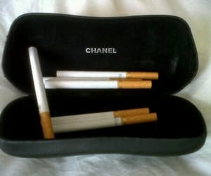 chanel, cigarette, and grunge image