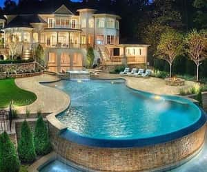 big house with pool image