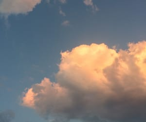 cloud, pastel, and peachy image