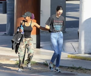 street style, kendall jenner, and justine skye image