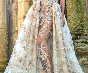 dress, beauty, and wedding image