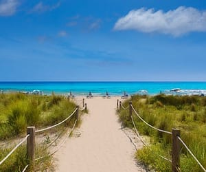 son bou, minorca, and spain image