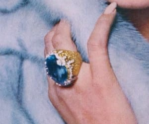 ring, blue, and fashion image