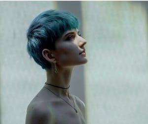 blue hair, girls, and grunge image