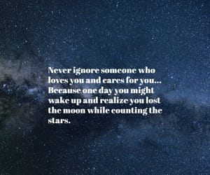 background, moon, and quote image