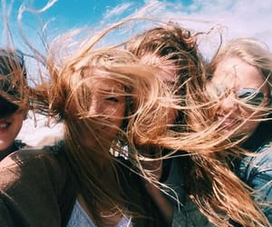 girl, friendship, and hair image