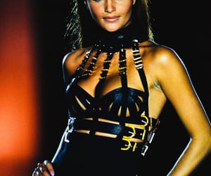 bustier, Donatella Versace, and eyes image