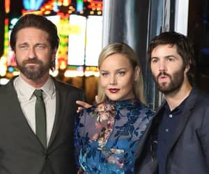 gerard butler, geostorm, and abbie cornish image