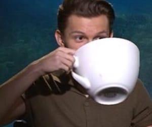 meme, tom holland, and tea image