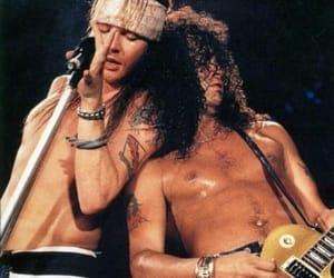 Guns N Roses, slash, and axl rose image