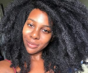 black women, natural hair care, and curly hair image