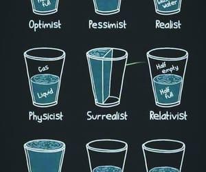 optimist, pessimist, and realist image