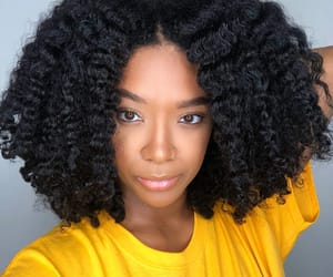 black women, curly hair, and natural hair image
