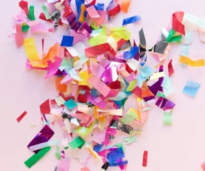 background, colors, and confetti image