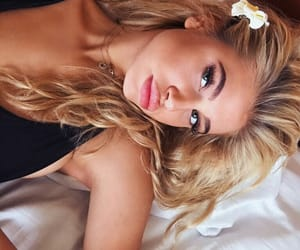 blonde, curls, and eyebrows image